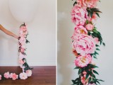 Romantic DIY Balloon With Silk Flowers For Weddings5