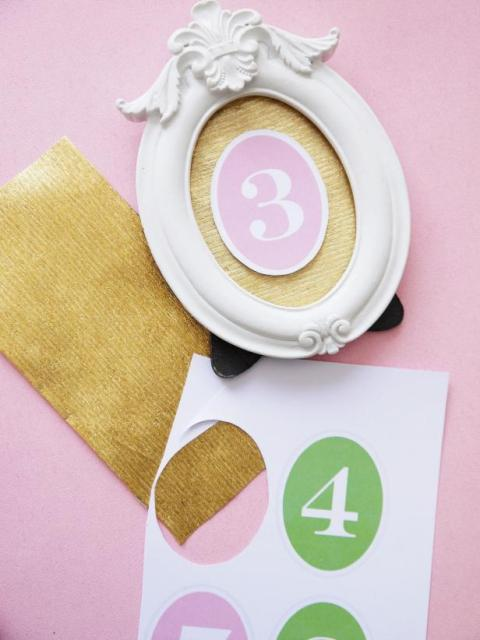 Romantic DIY Table Numbers For Your Big Day