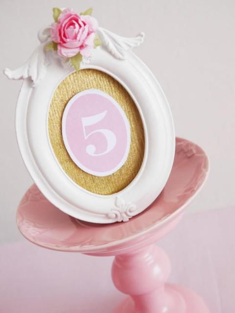 Picture Of Romantic DIY Table Numbers For Your Big Day 6