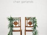 Rustic Styled DIY Wedding Chair Garland