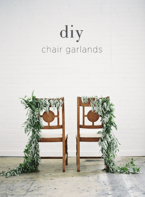 Rustic Styled DIY Wedding Chair Garland