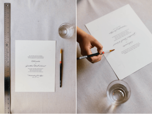 Simple DIY Faux Deckle Edge Paper For Your Wedding Invitations
