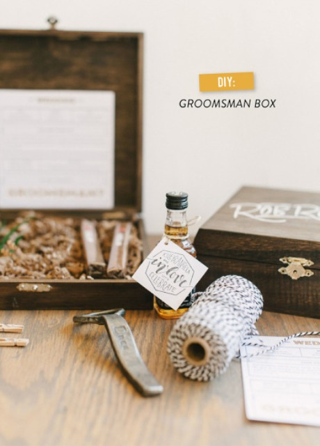 Very Stylish DIY 'Will You Be My Groomsman?' Box