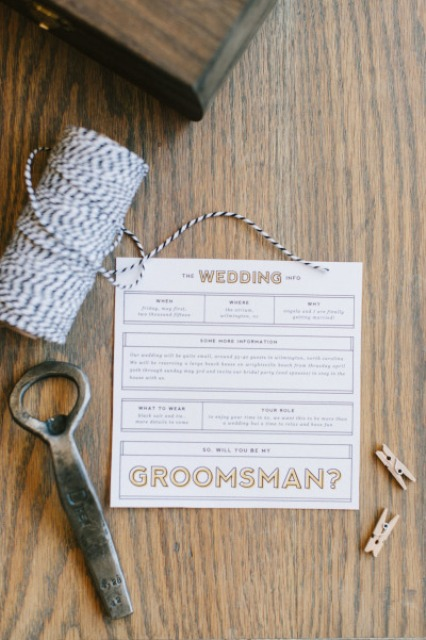 Picture Of Very Stylish DIY Will You Be My Groomsman Box 8
