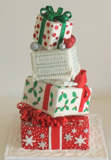 30 adorable christmas wedding cakes