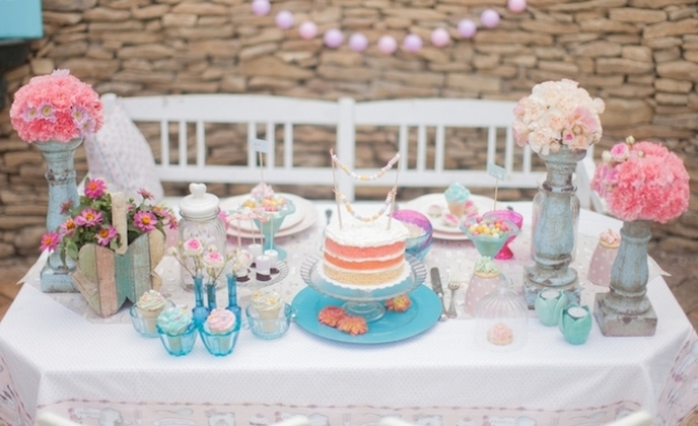 Adorable Engagement Shoot With A Pretty Dessert Table