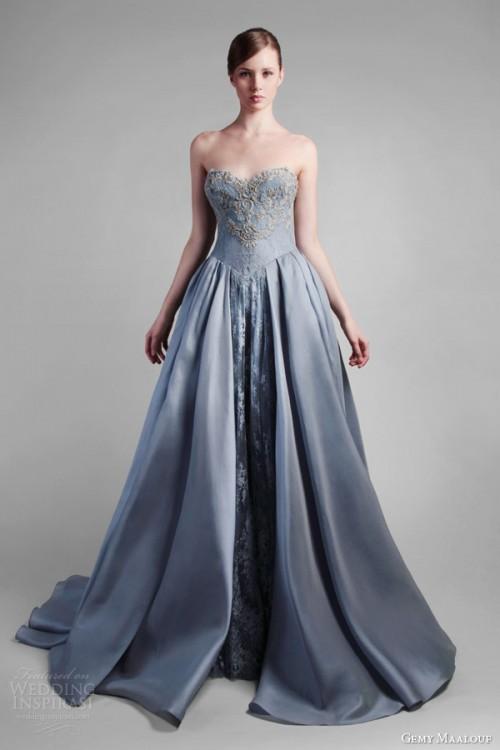 Powder Blue Wedding Dresses 16 Popular Adorable Gemy Maalouf Spring