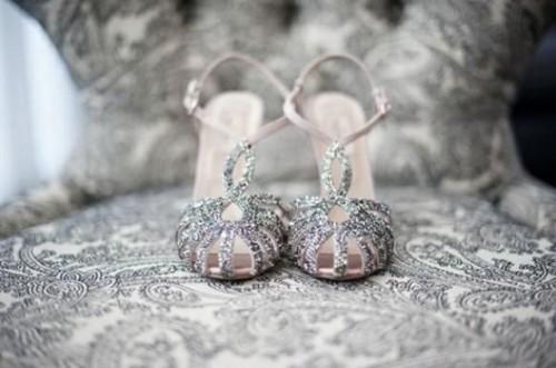 adorable sparkly wedding shoes