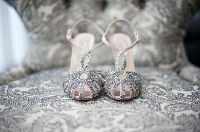 Adorable Sparkly Wedding Shoes