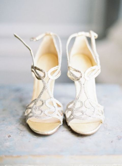 30 Adorable Sparkly Wedding Shoes