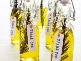 herbed olive oil with tags is a great themed idea for an Italian spring wedding