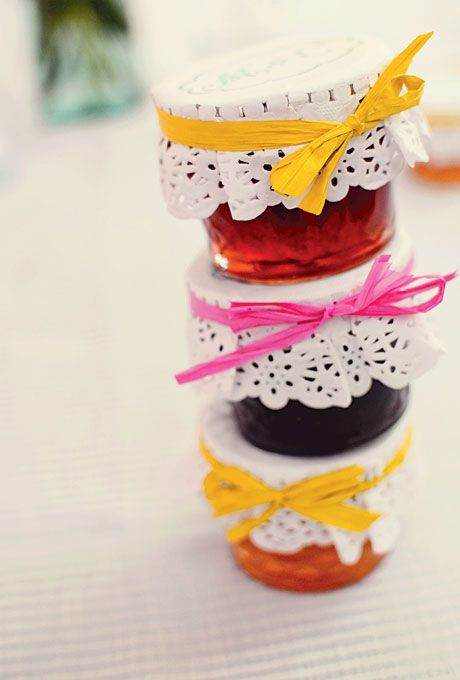 homemade berry jam is always a good idea, it's cool anytime and for any wedding