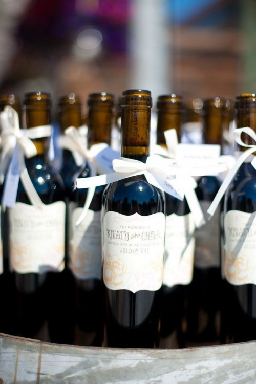 offer mini bottles of your favorite wine and your guests will be excited to try it and understand your taste