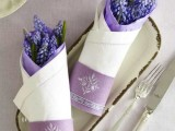 fabric cones with fresh spring bulbs are non-traditional yet very refreshing favors for spring weddings