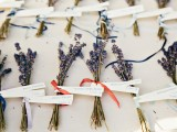 mini lavender bouquets will brign an adorable smell to your friends' homes