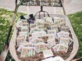 seeds of plants and blooms are a very thoughtful and romantic spring wedding favor, they will grow with your love