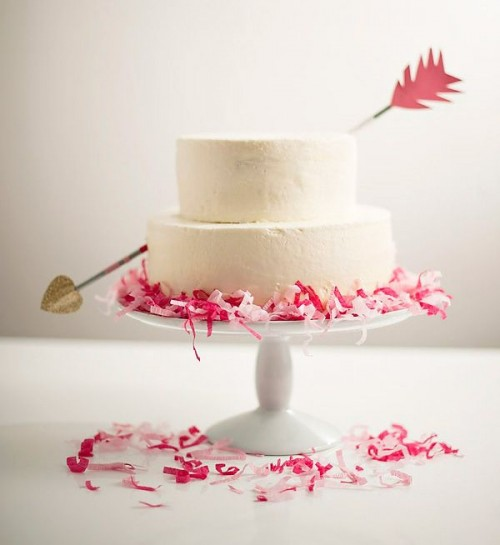 Adorable Valentine's Day Wedding Cakes