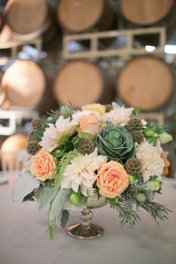 Adorable Vineyard Wedding Centerpeices