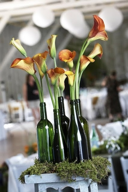 Adorable Vineyard Wedding Centerpeices