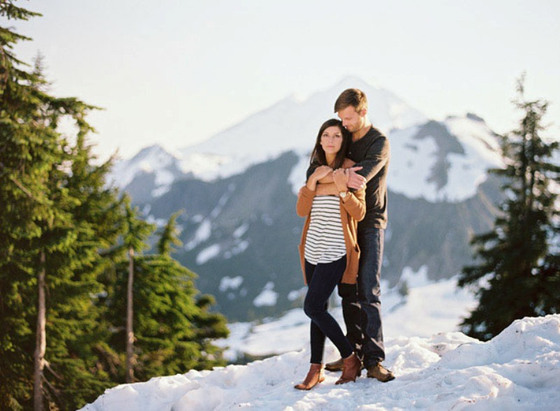 Picture Of adventurous and extremely beautiful engagement shoot in the mountains  12