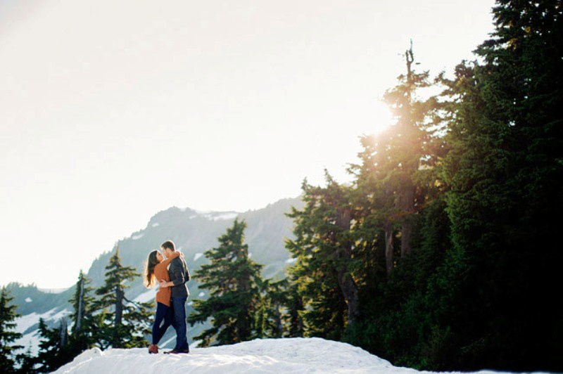 Picture Of adventurous and extremely beautiful engagement shoot in the mountains  15