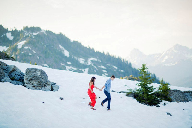 Picture Of adventurous and extremely beautiful engagement shoot in the mountains  16