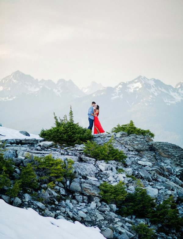 Picture Of adventurous and extremely beautiful engagement shoot in the mountains  17