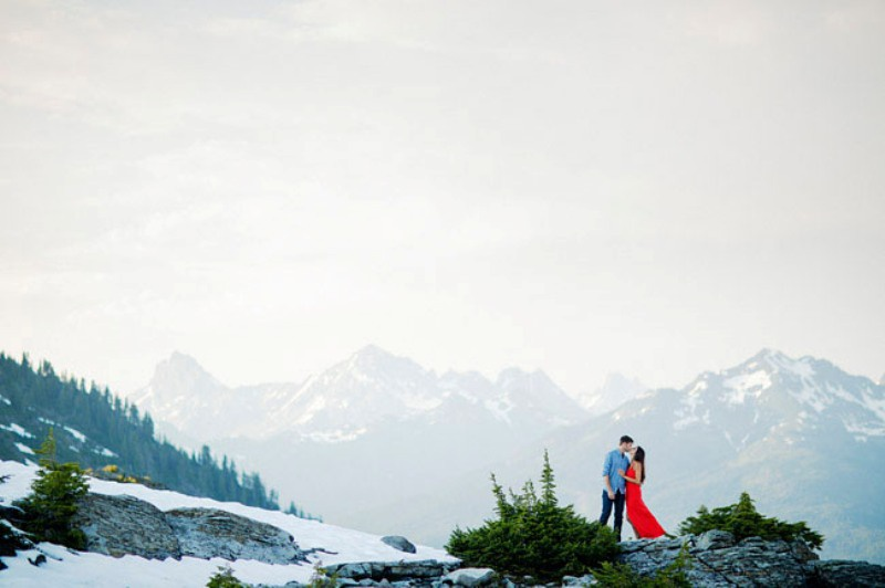 Picture Of adventurous and extremely beautiful engagement shoot in the mountains  19