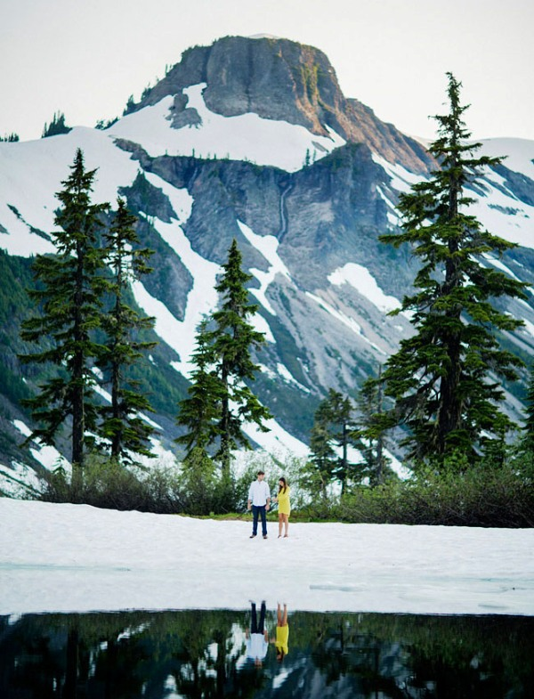 Picture Of adventurous and extremely beautiful engagement shoot in the mountains  21