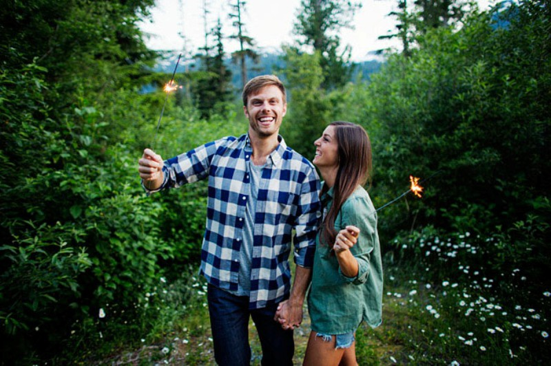 Picture Of adventurous and extremely beautiful engagement shoot in the mountains  25