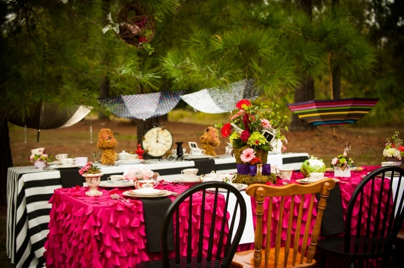 Picture Of Alice In Wonderland Themed Bridal Shower