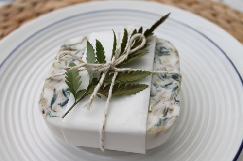 All-Natural DIY Herb Soaps As Wedding Favors
