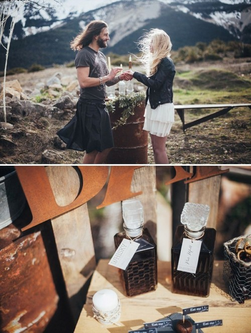 Alternative Mountain Wedding Shoot With Industrial Touches