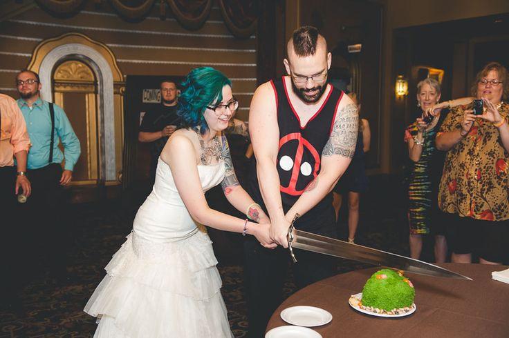 Alternative Wedding With A Power Ranger Groom
