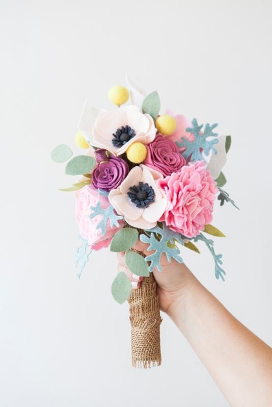 Amazing And Unique Diy Felt Wedding Bouquet