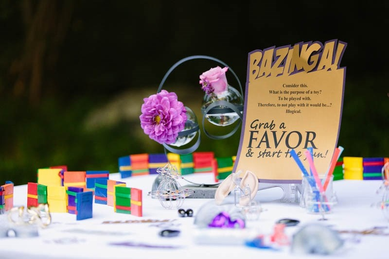 Picture Of amazing the big bang theory themed wedding  1