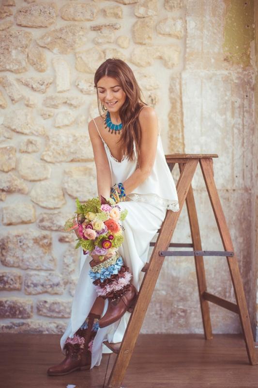 Picture Of amazingly eclectic boho folk wedding inspiration  17