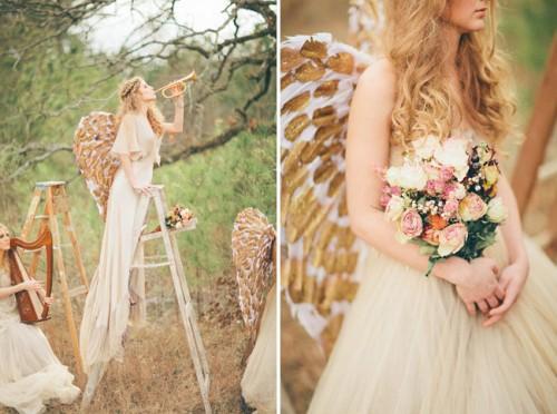 Angel Inspired Wedding Photo Shoot