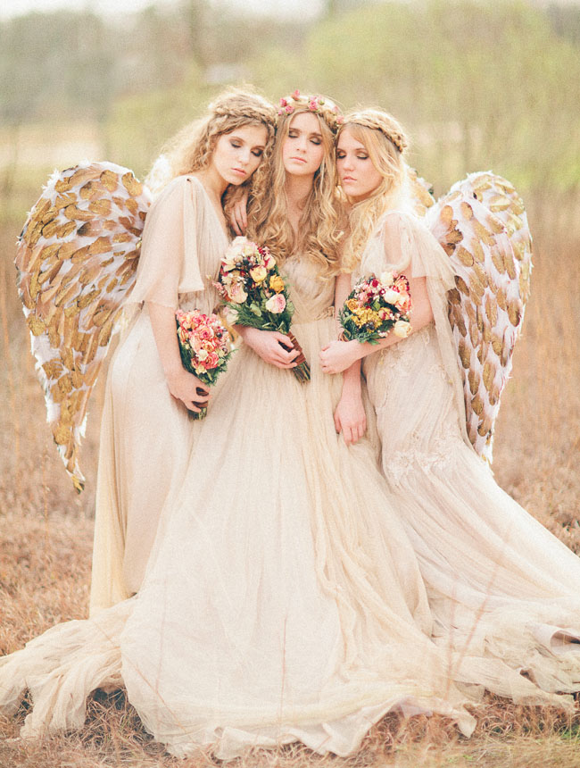 Picture Of Angel Inspired Wedding Photo Shoot