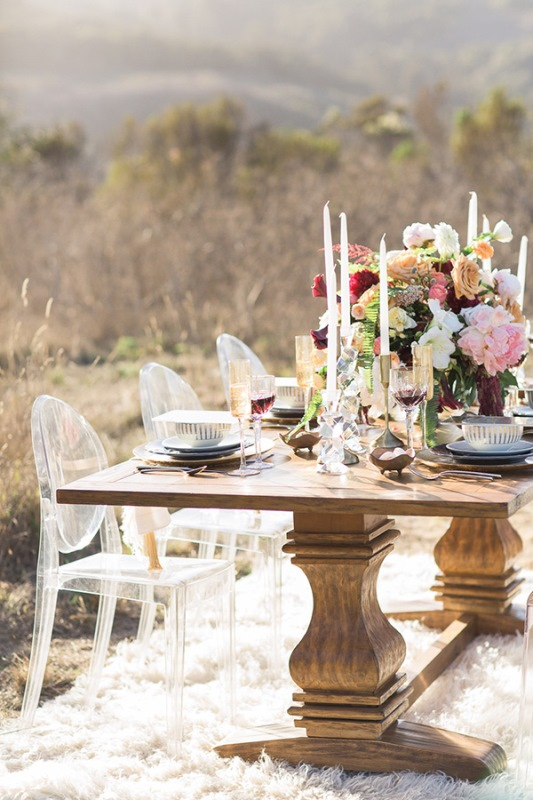 Picture Of astonishing glam meets boho wedding in jewel tones  10