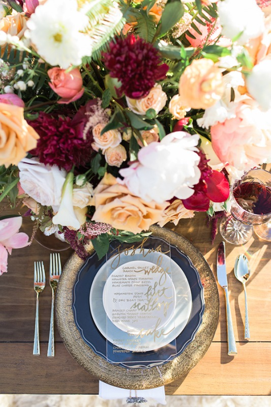 Picture Of astonishing glam meets boho wedding in jewel tones  11