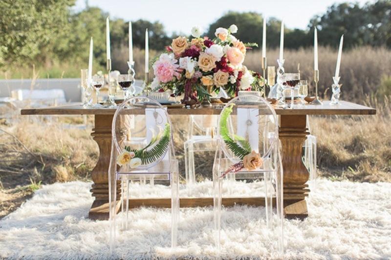 Picture Of astonishing glam meets boho wedding in jewel tones  12