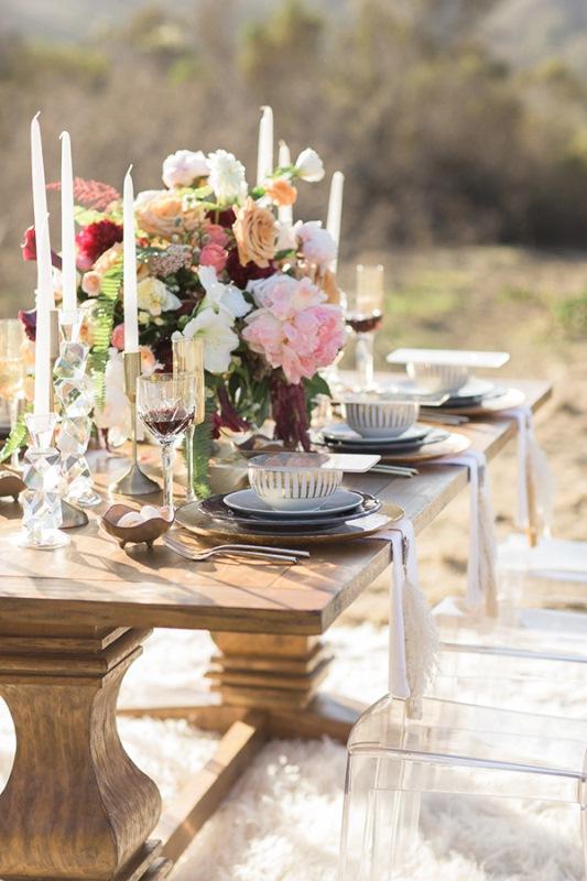 Picture Of astonishing glam meets boho wedding in jewel tones  14