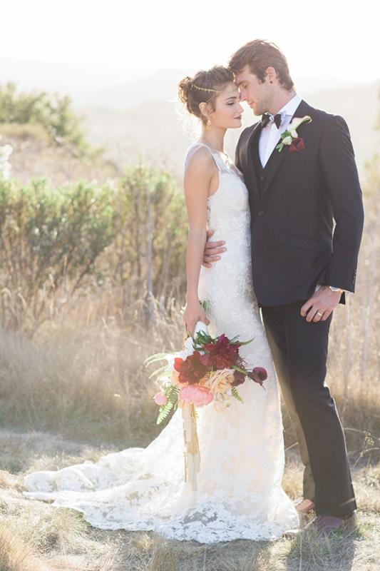 Picture Of astonishing glam meets boho wedding in jewel tones  15