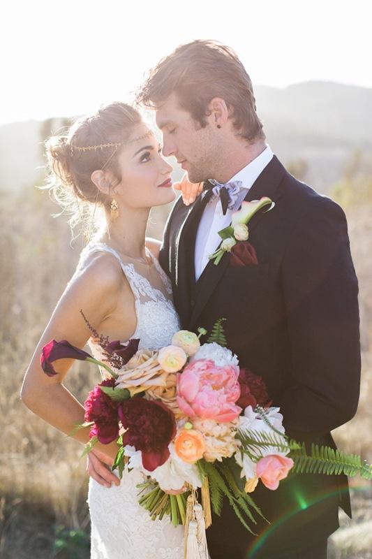 Picture Of astonishing glam meets boho wedding in jewel tones  16