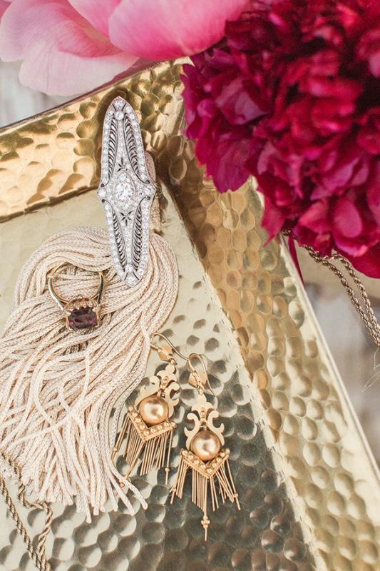 Picture Of astonishing glam meets boho wedding in jewel tones  2