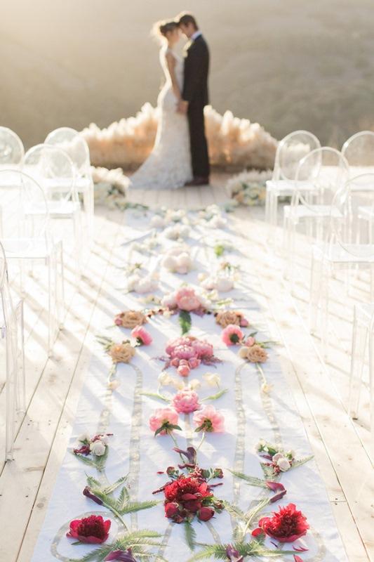 Picture Of astonishing glam meets boho wedding in jewel tones  23