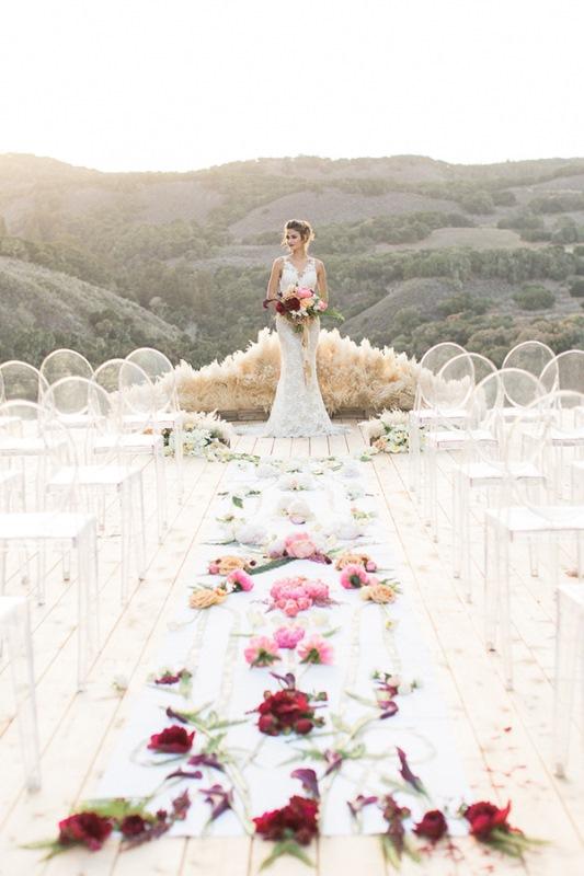Picture Of astonishing glam meets boho wedding in jewel tones  27