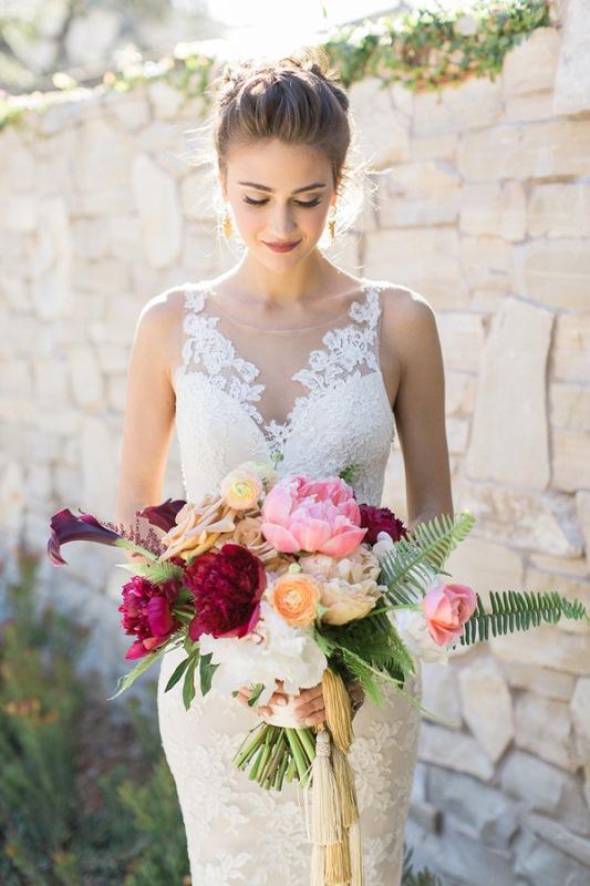 Picture Of astonishing glam meets boho wedding in jewel tones  4