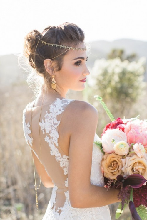 Astonishing Glam Meets Boho Wedding In Jewel Tones